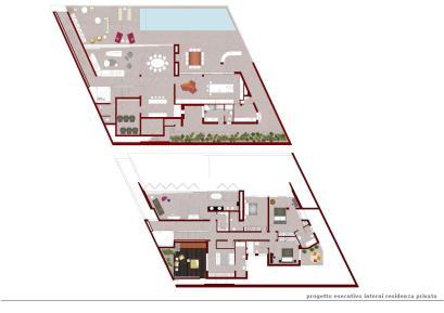Progetto esecutivo degli interni per residenza privata.