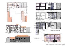 Rilievo di edificio storico finalizzato alla redazione di progetto di restauro conservativo e riuso.